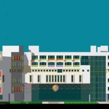 Haji Ali Children's Hospital –  East-Elevation