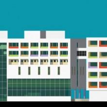 Haji Ali Children's Hospital –  South-Elevation